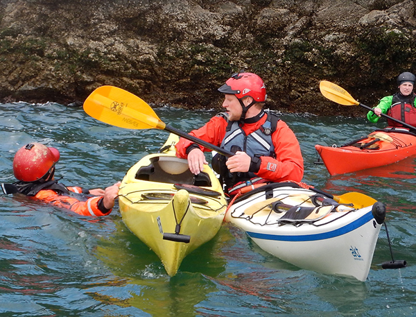 sea kayak foundation skills: Safety and Rescue Introduction Class in San Juan Islands, Washington