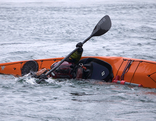 Rolling and Bracing sea kayak foundation skills from Blue Otter Outfitters